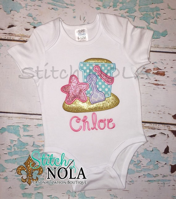 Girl Beach Bucket T-Shirt or Bodysuit