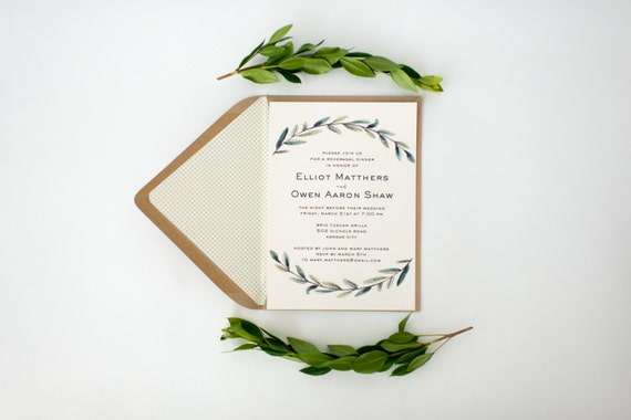 elliot rehearsal dinner invitation (sets of 10)  // lola louie paperie