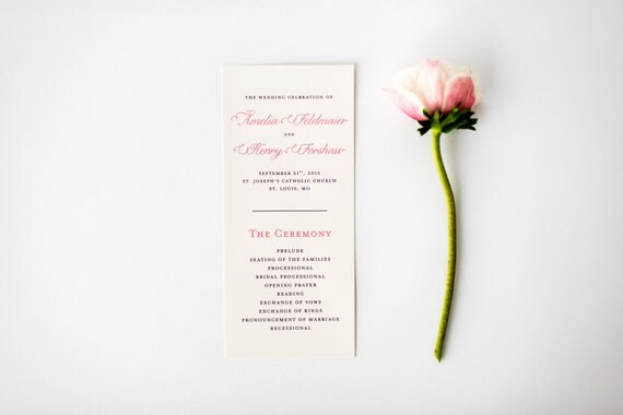 amelia wedding programs (sets of 10)  // lola louie paperie