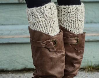 Knit Boot Cuffs, Knit Socks, Knit Boot Socks, Knit Leg Warmers, Knit Stockings, Earthy Tones, Bohemian Vintage Chic Rustic, Women