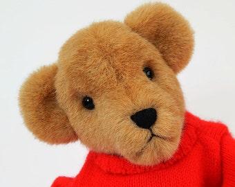 Matthew Paul - OOAK Plush Artist Teddy Bear, non-jointed stuffed faux fur teddy bear, stuffed animal, bear doll, collectible plush bear