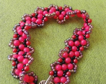 Fashion hot pink  Fuchsia bracelet