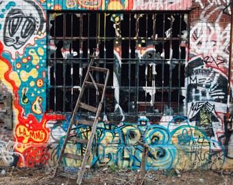 Graffiti Print, Street Art Photography, Urban Decor, Phildelphia Art, Fine Wall Art Print, Urban Decay Photography, Contemporary Wall Art