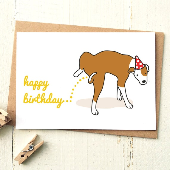 Funny Happy Birthday Dog Cards