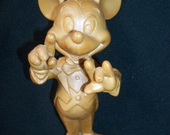 REDUCED: Vintage Pre Production Prototype Resin Mickey Mouse Maestro Figurine Mold  from the Early 1980s
