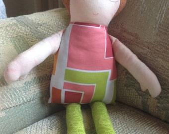 Rag Doll, Cloth Doll, Fabric Doll, Birthday Gift