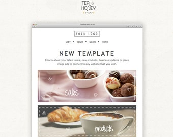 Mailchimp Email Newsletter Template, Modern Design HTML Promotional Template, Advert Image Design, Promote Blog Post Online HTML Newsletter
