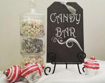 Candy Bar Wedding Sign, Shabby Chic Candy Bar Wedding, Candy Bar Birthday Sign, Shabby Chic Sign, Candy Bar Sign