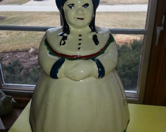 "Antique 1930s Shawnee Cold Paint ""Northern Dutch Girl"" Cookie Jar RARE"