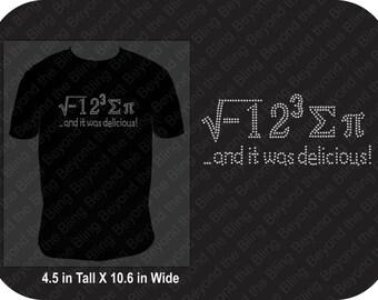 Pi teacher bling shirt I ate some pi shirt Pi day shirt teacher math shirt math teacher bling shirt math teacher pi bling shirt math formula