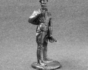 WW2 Handmade Toy Sailor Soviet Naval 1/32 Scale Infantry 1943-1944 54mm Pewter Metal Miniature Statuette Collection Figurines