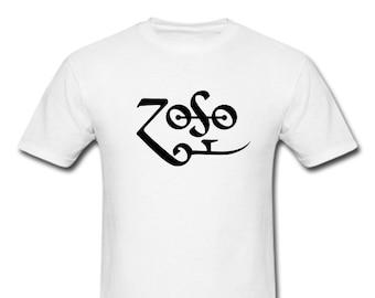"""Led Zeppelin Zoso - Jimmy Page Symbol - ZEPPELIN RUNES T-Shirt """"ZOSO"""""""