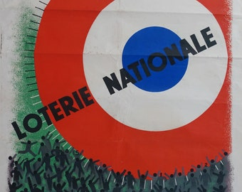 1935 French Loterie Nationale - Original Vintage Poster