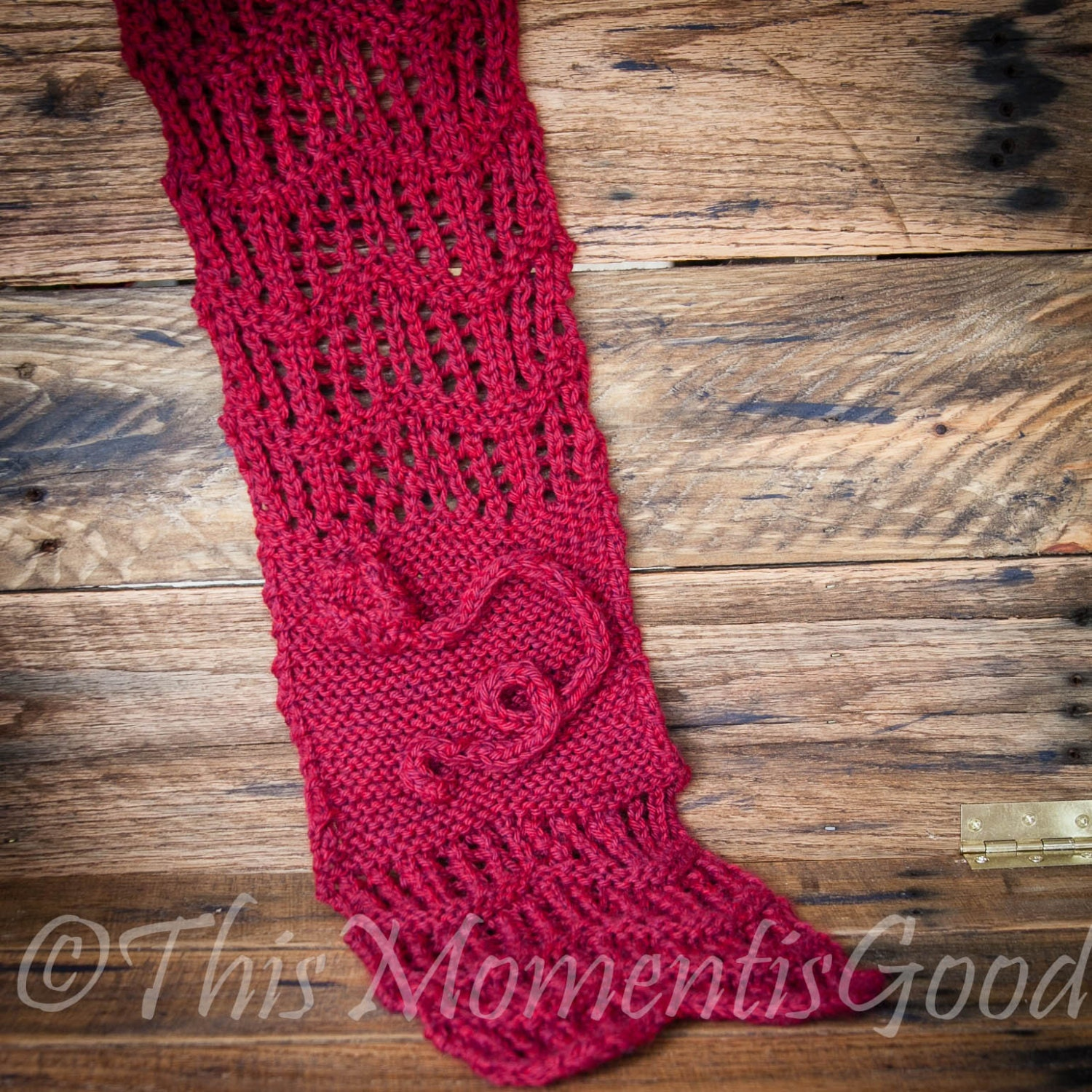Loom Knit Cowl PATTERN with Rose detail Scarf Shawl Lace