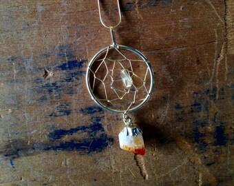 Citrine Dreamcatcher Necklace