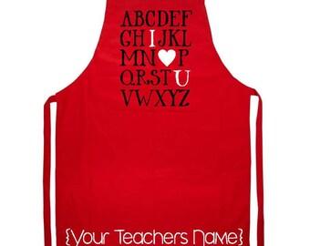 Customized Teacher Appreciation Apron