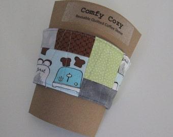 Comfy Cozy Quilted Coffee Cozy