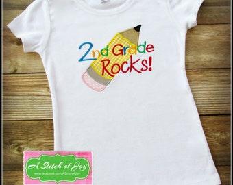 Back to School Shirt, Girls School Shirt, Boys School Shirt, Kindergarten Rocks, Preschool, Pre-K, 1st, 2nd, 3rd, 4th, 5th, 6th grade