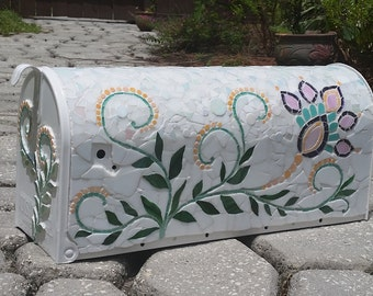 Paisley Swirls Hand Crafted Mosaic Mailbox - Ready to be Shipped!!!