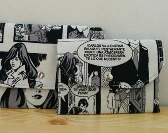 Comic pouch,Comic wallet, Comic coin purse, Comic bag, Comic canvas, Comic fabric, fabric pouch, canvas pouch, canvas bag, canvas Comic
