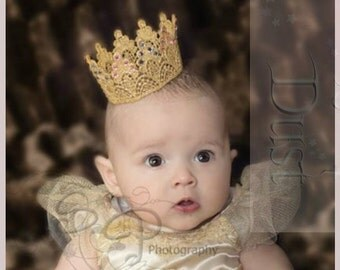 Gold Lace Crowns Photography Props Newborn Regal Lifestyle Crystals