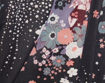 Klimt inspired vintage fabric.  Synthetic.  By the yard, 3 yards available.