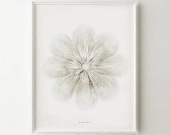 White flower art print, White home decor, White wall art Flower PRINTABLE art, White Bedroom decor, Elegant art White decor Neutral wall art