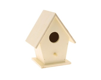 Wooden birdhouse to decorate