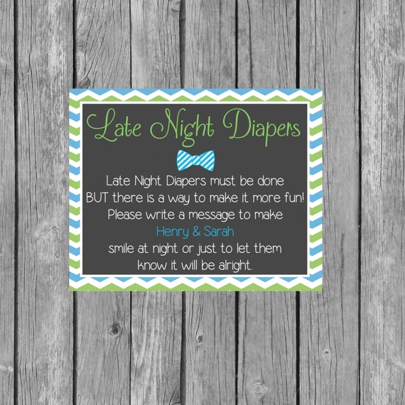 Late Night Diaper Thoughts Baby Shower Game – Neutral ...  |Sign For Diaper Baby