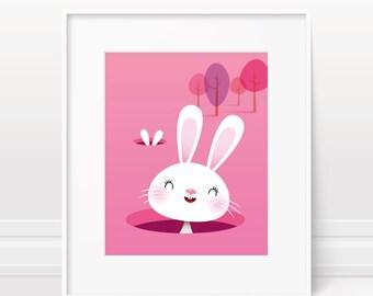 Girls nursery decor- baby girl decor, girls nursery print, girls art, girls nursery art, new baby gift, baby shower gift, baby girl art