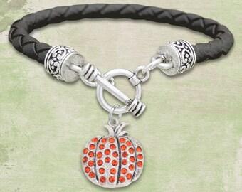 Pumpkin Leather Bracelet - 50316