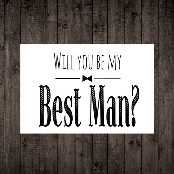 Sizzling image within will you be my groomsman printable