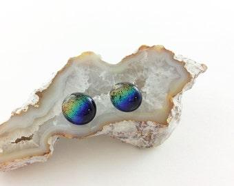 Rainbow Earrings, Post Earrings, fashion Earrings, rainbow jewelry, Dichroic earrings, jewlery, jewlry, Custom jewelry, Gift for mom