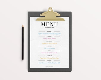Menu Planner, Dinner Planner, Meal Planner Printable, Meal Planning, Dinner Time, Meal Plan Template, Family Meal Plan, Weekly Menu Planner
