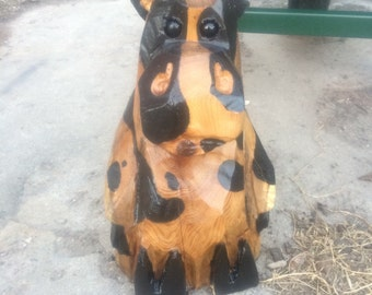 Cow Chainsaw Carving