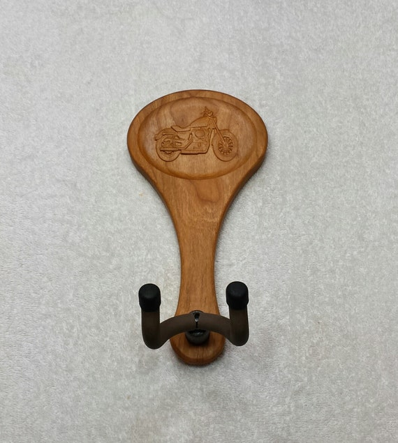 Items similar to guitar hanger motorcycle carving