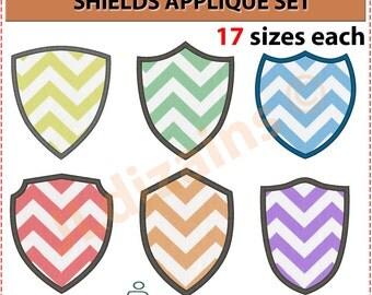 Shield Applique Design Set. Shield embroidery design set. Embroidery design shield. Embroidery applique shield. Machine embroidery design