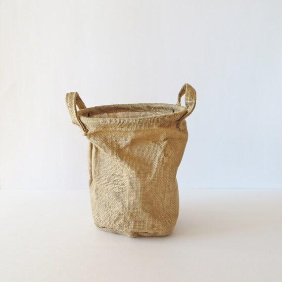 Burlap sack vintage bag rustic wedding decor gift bag for Burlap sack decor