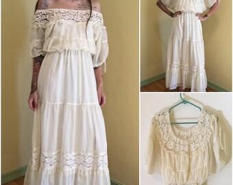 Vintage roberta california dress 70s