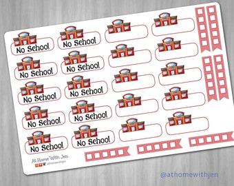 School sampler sticker set for your Erin Condren Life Planner, Plum Planner, Filoflax, calendar or scrapbook