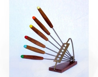 Fondue Forks with Stand