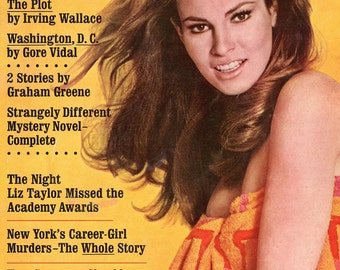 Cosmopolitan Magazine 1967  Raquel Welch on Cover  Donna Mills  Women Gals  Young Barbara Walters Fashion Articles