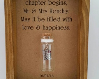 Wedding present, unique, gift for bride & groom, wedding gift. Can be personalised with names or your own message.