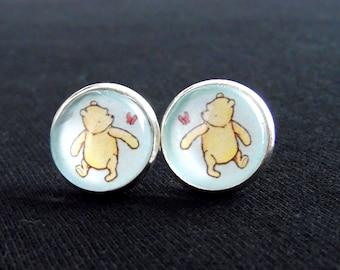 Winnie the Pooh Earrings-Pooh Bear-Winnie the Pooh Jewelry-Classic Winnie the Pooh-Bear Earrings-Pooh-Gift-Teacher Gifts-100 Acre Wood