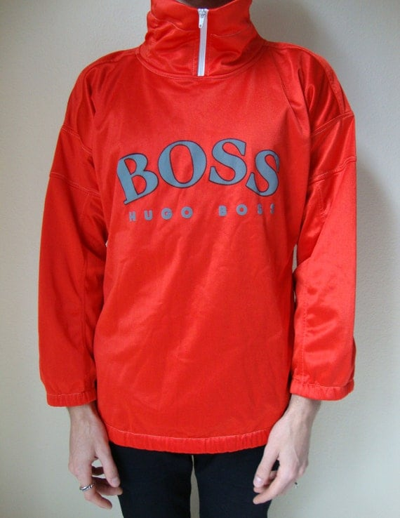 hugo boss sweater 80s 90s red jumper pullover winter warm. Black Bedroom Furniture Sets. Home Design Ideas