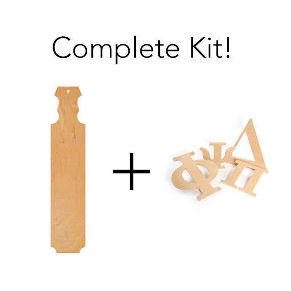Greek sorority fraternity paddle kit includes wooden like this item pronofoot35fo Choice Image