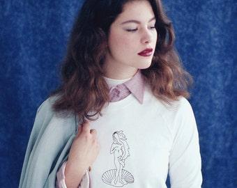 """W16   Sweatshirt """"The birth of Venus"""" by Botticelli"""