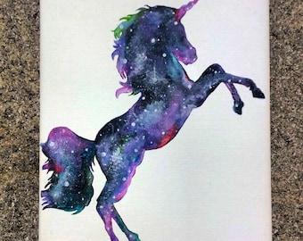 Custom Unicorn Galaxy Painting    Wall Art    Mythical    Nursery Art    Unicorn Painting    Baby Room    LuLaRoe Art