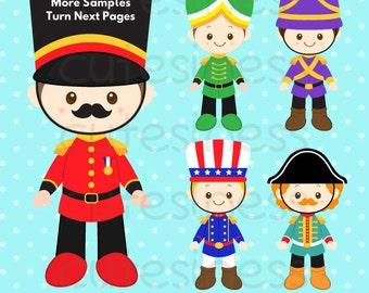 Nutcracker Clipart, Soldier Clipart, Toy Soldier Clipart, London Clipart, Christmas Nutcracker
