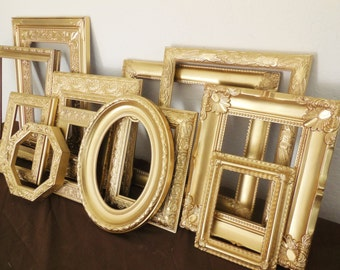 gold picture frame set free shipping custom classic antique gold hand painted ornate gallery wall nursery art home decor wedding